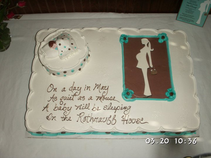 pregnant lady cake. of the pregnant lady out.