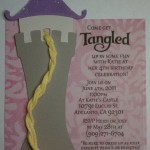 Tangled invitations, princess, rapunzel, tower svg