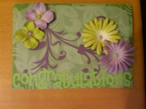 Purple, green, congratulations, flowers, floral