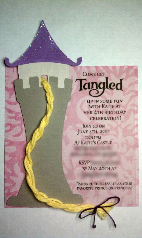 Grealish Greetings Blog Archive Get Tangled up in these invites – Rapunzel Party Invitations