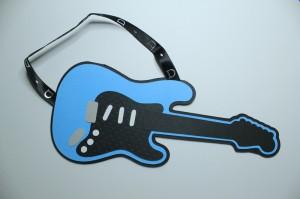 rockstar, guitar, handmade, invitation, card, birthday, baby shower, rock n' roll