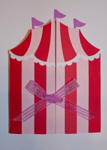 circus tent handmade invitations, carnival, birthday party, big top, circus tent svg