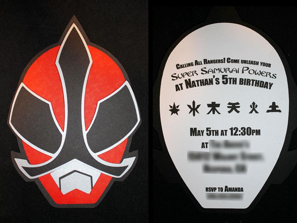 Grealish Greetings 2012 May – Power Rangers Party Invitations
