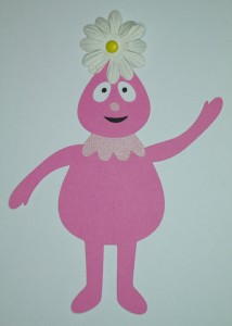 Yo gabba gabba, foofa svg cutout, cartoon character, kids birthday, invitations, handmade card
