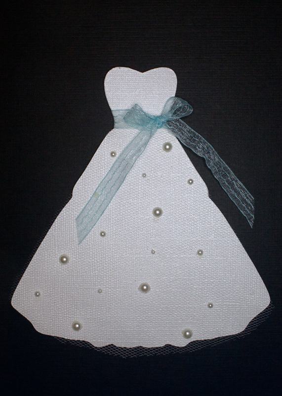 Wedding dress svg handmade card party dress bridal shower