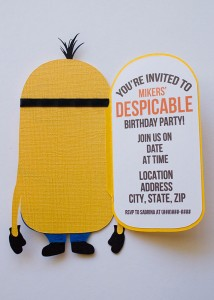 despicable me invitation, pixar character, birthday party, minions cutout, minion svg