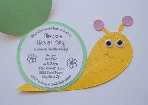 snail invitation, card, birthday party, garden party, baby shower, svg, cutout