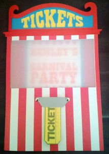 Carnival invitations, ticket booth, birthday party, kids party, ticket booth cut out, carnival svg, carnival cut out, circus