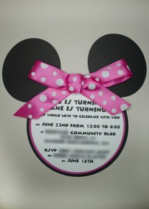 Minnie Mouse Invitation, disney cutout, minnie mouse svg