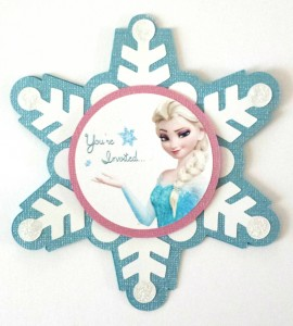 handmade Frozen Elsa invitation, elsa svg, girls birthday party, snowflake, frozen cutout, cricut, silhouette cameo