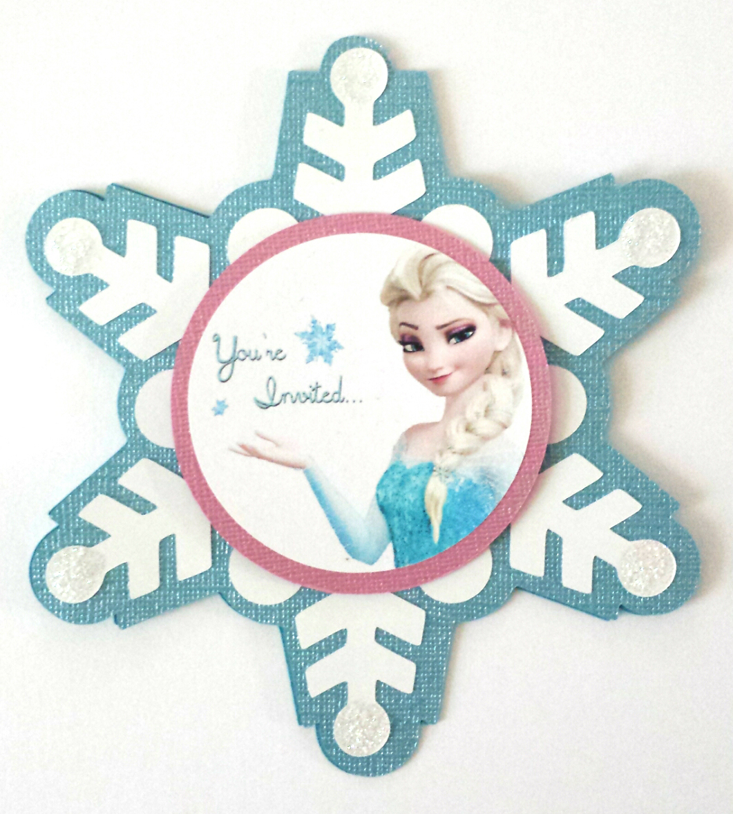 Grealish greetings custom invitations handmade frozen elsa invitation elsa svg girls birthday party snowflake frozen cutout solutioingenieria