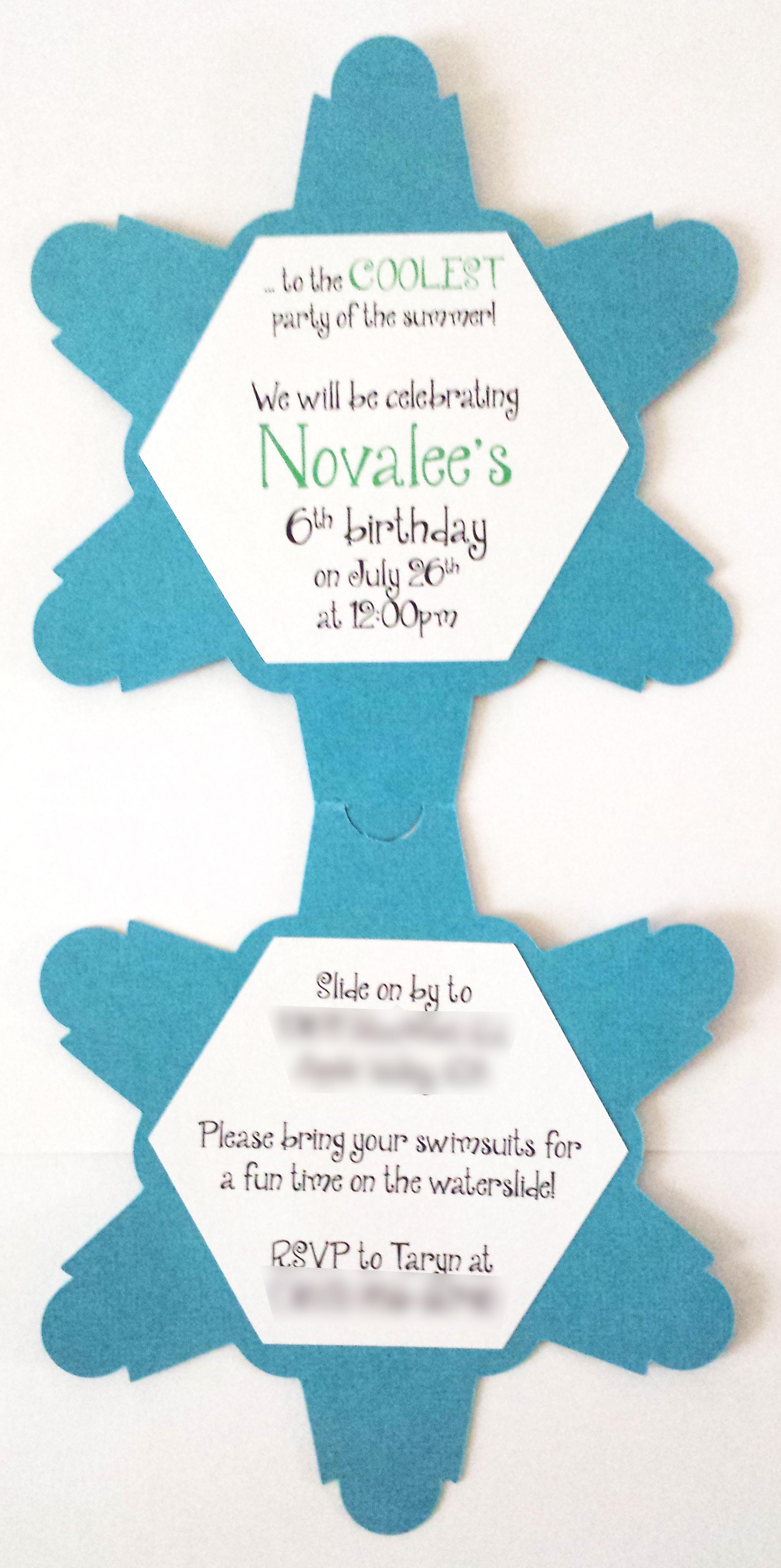 handmade Frozen Elsa invitation, elsa svg, girls birthday party, snowflake, frozen cutout, cricut, silhouette cameo